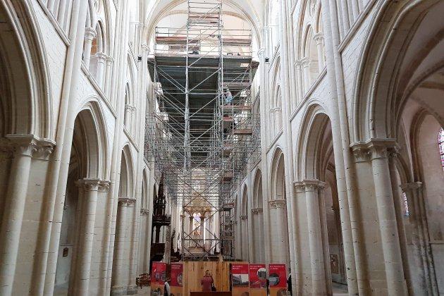 Des travaux de rénovation à l'Abbaye de Fécamp