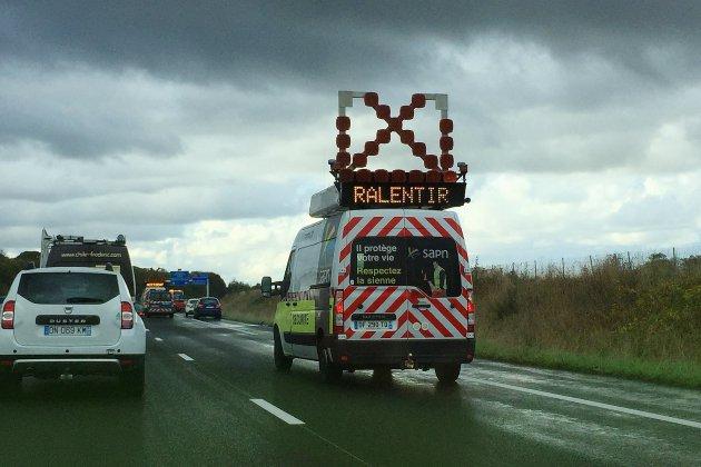 Calvados : circulation très compliquée sur l'A13 après un accident