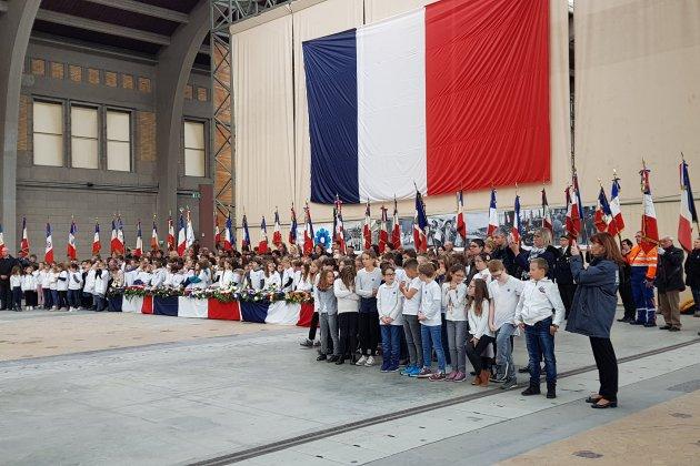Manche : 250 élèves des écoles de la Manche à la cérémonie départementale du centenaire de l'armistice de 1918