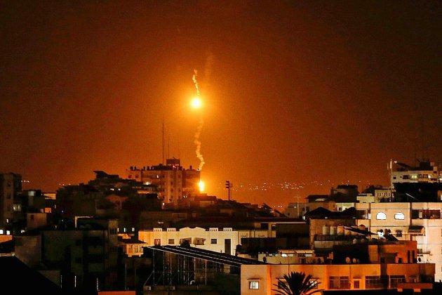 Barrage de roquettes palestiniennes, frappes israéliennes: nouvel accès de fièvre à Gaza