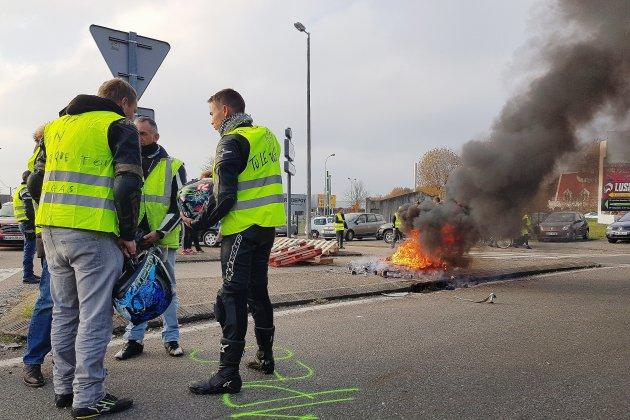 Gilets Jaunes: quelques tensions autour de Rouen