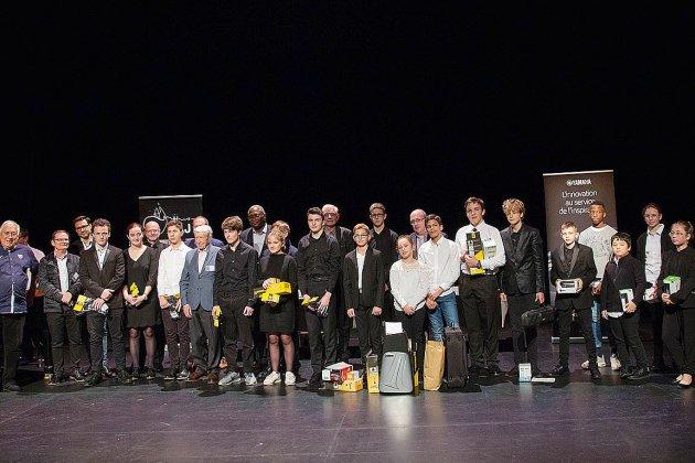 Les lauréats du 10e concours européen de jeunes trompettistes à Alençon