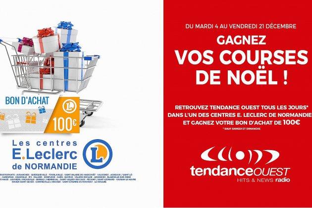 Tendance Ouest et les centres E.Leclerc de Normandie vous offrent vos courses de Noël