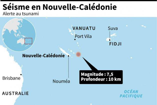 Les Néo-Calédoniens appelés à se mettre à l'abri après un puissant séisme