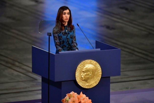 """Nobel: Nadia Murad réclame une """"protection internationale"""" des Yazidis"""