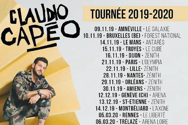Claudio Capéo part en tournée et s'arrêtera en Normandie