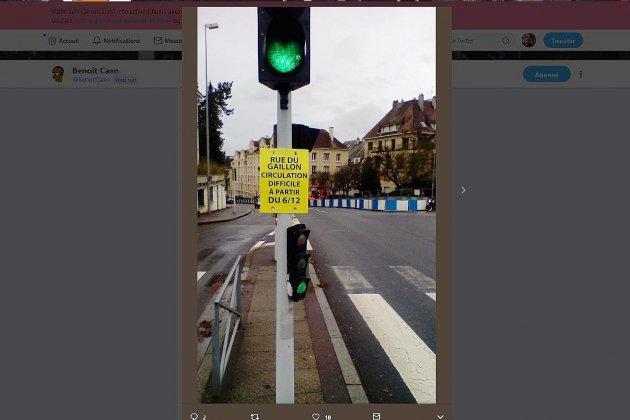 Travaux du tram : circulation difficile rue du Gaillon