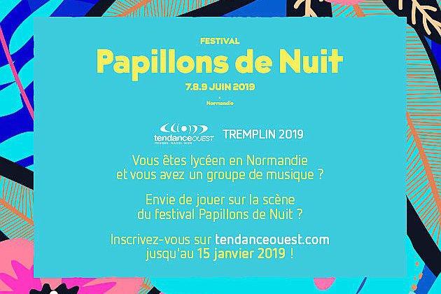 Lycéens et musiciens :place au Tremplin Tendance Ouest | Papillons de Nuit