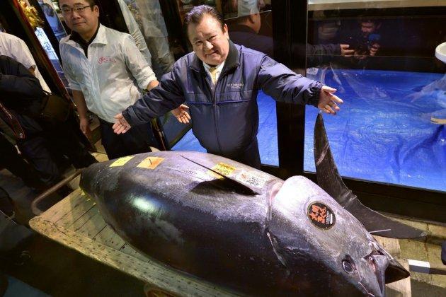 Japon: record de 2,7 millions euros pour un thon aux enchères