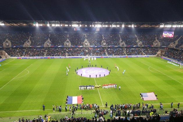 Football : Au Havre,la France terrasse les championnes du monde américaines