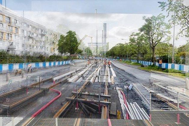 Caen la Mer: des expositions photos des chantiers du futur tramway