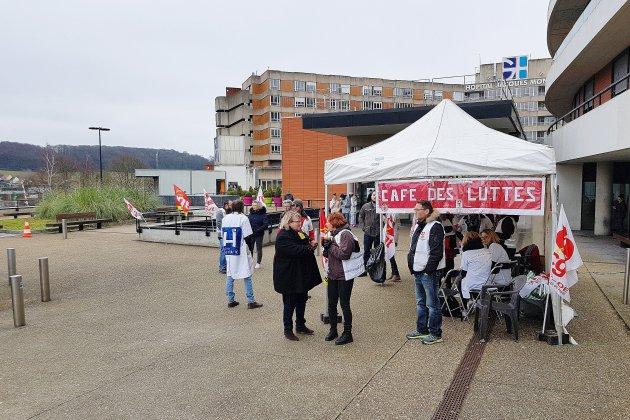 Mobilisation à l'hôpital du Havre contre le manque de moyens et d'effectifs