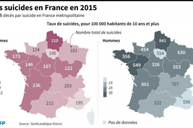 Suicide: la Bretagne et tout le quart nord-ouest en première ligne