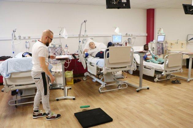 Caen: du sport dans le service de dialyse de l'hôpital Saint-Martin