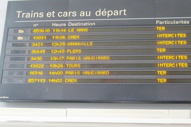 Trains Paris/Granville: inquiétude sur les horaires