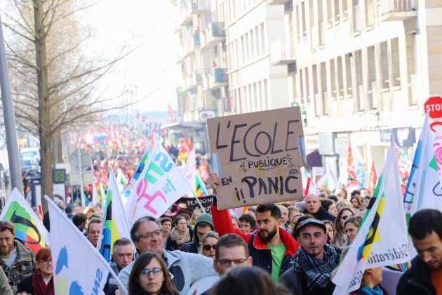 Rouen : plus de 2000 personnes dans les rues pour la journée de grève