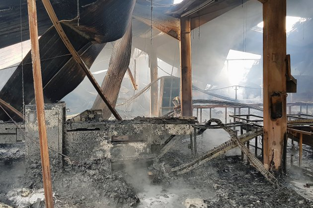 Anaïs à Cerisé: l'incendie du bâtiment Anaïs est éteint