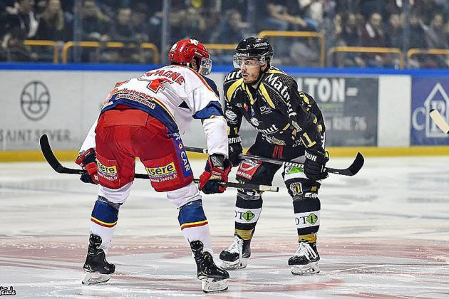 Hockey sur glace: les Dragons de Rouen débutent leur finale face aux Brûleurs de Loups de Grenoble
