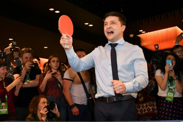"Ukraine : Zelensky, un ""clown"" novice en politique"