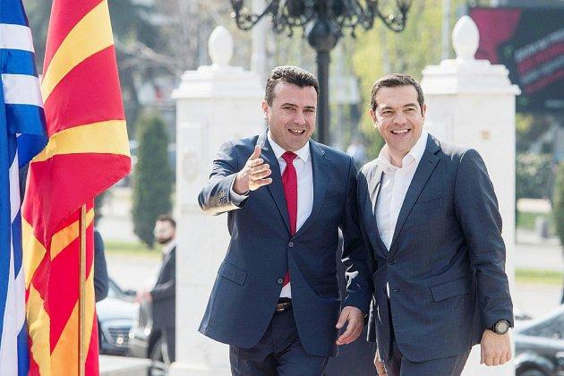 """Visite """"historique"""" du Premier ministre grec en Macédoine du Nord"""