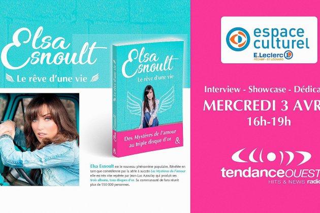 Elsa Esnoult en interview, showcase, dédicace et...en tournage à Fécamp, pour Les Mystères de l'Amour
