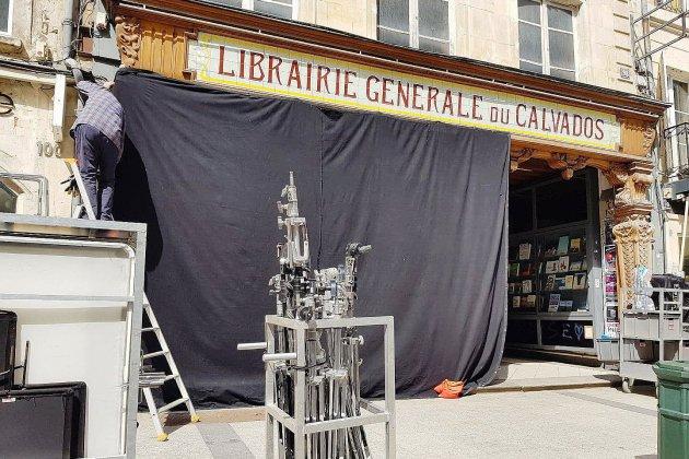 Caen : le Quai de Ouistreham en tournage