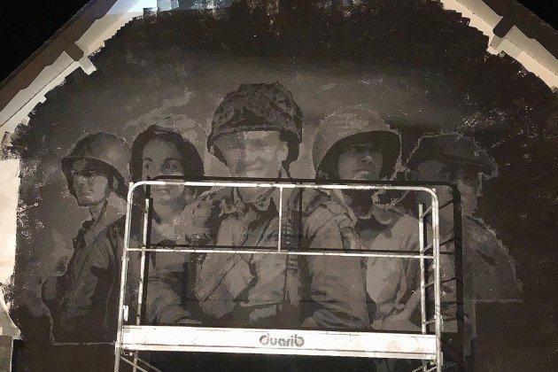 Manche : la fresque dédiée aux libérateurs pour le D Day imaginée par un particulier prend tournure