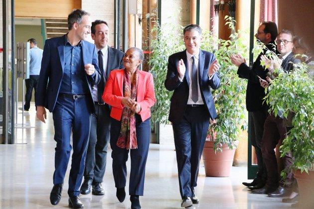 Européennes: Christiane Taubira soutient Raphaël Glucksmann à Rouen