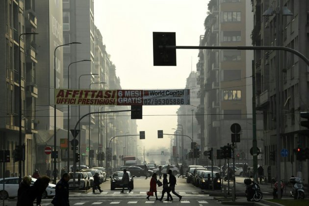 Pollution de l'air: les points noirs de la carte européenne