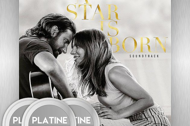 La bande-originale du film A star is Born décroche son 3ème disque de platine