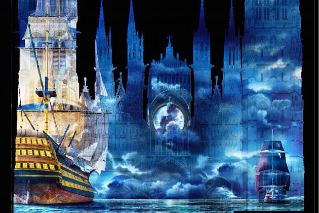 Cathédrale de lumière à Rouen: les nouveaux mondes à l'honneur
