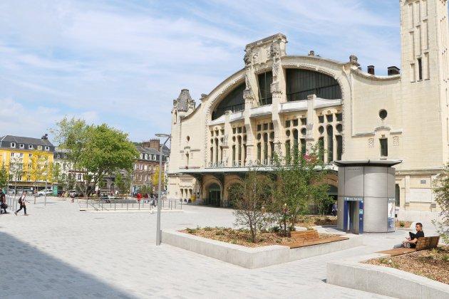 À Rouen, le nouveau parvis de la gare est achevé