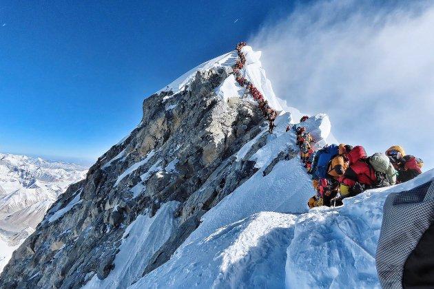 Incroyable embouteillage sur l'Everest