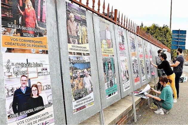 À Bernay, 44 commerçants s'affichent sur les panneaux électoraux
