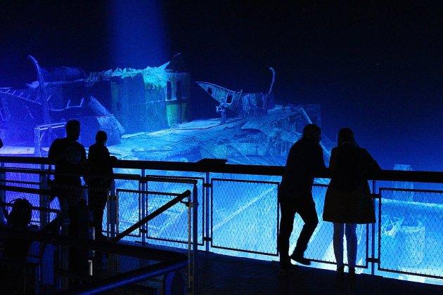 Vue sur l'épave du Titanic au Panorama XXL de Rouen