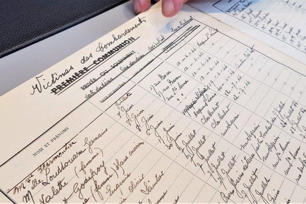 À Caen, un prêtre a tenu un registre des victimes civiles de 1944