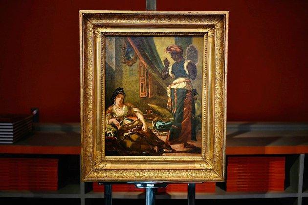 """""""Etude pour les femmes d'Alger"""": un Delacroix retrouvé à Paris"""