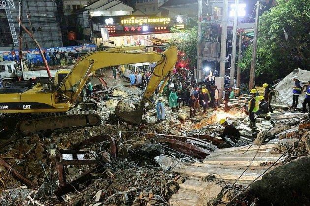 Cambodge: le bilan de l'effondrement d'un immeuble passe à 17 morts