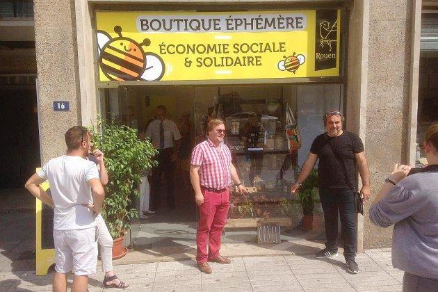 Une boutique éphémère consacrée à l'économie sociale et solidaire à Rouen