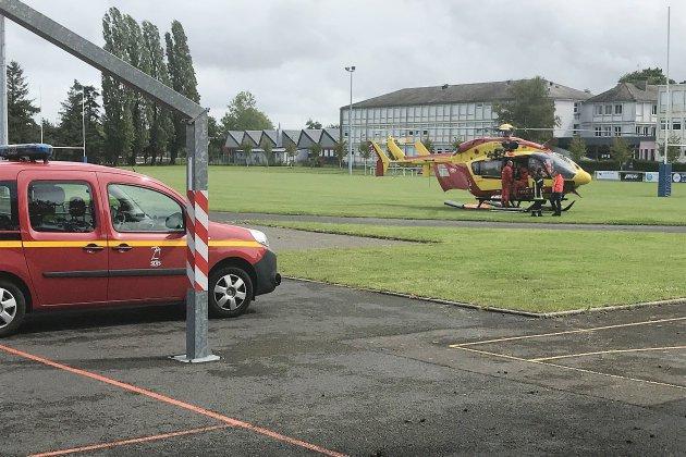 Accident de voiture dans l'Orne, un homme héliporté au CHU de Caen
