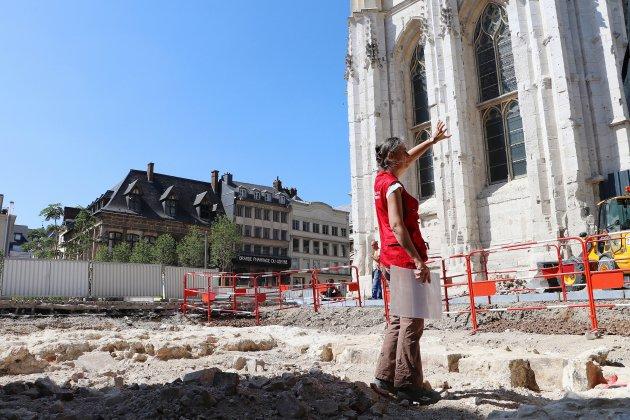 Une église du Moyen-Âge retrouvée le long de la cathédrale de Rouen