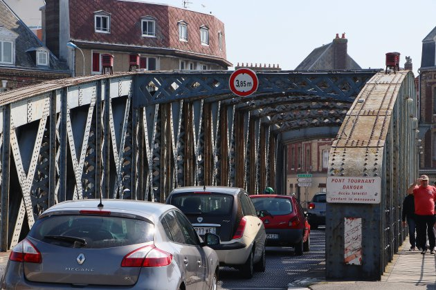 À Dieppe, le pont Colbert bloqué par les fortes chaleurs