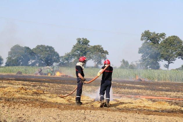 Calvados : des feux de végétation en cours dans cinq communes