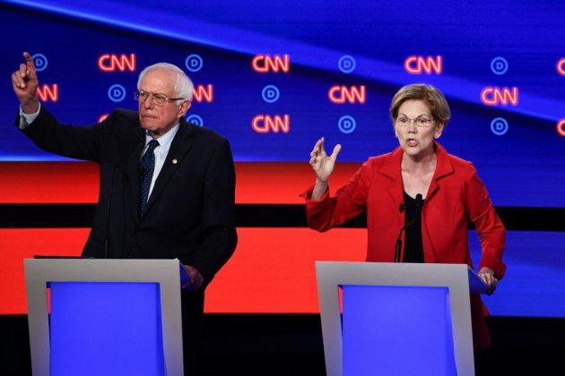 Débat entre démocrates américains: Warren et Sanders cibles des modérés
