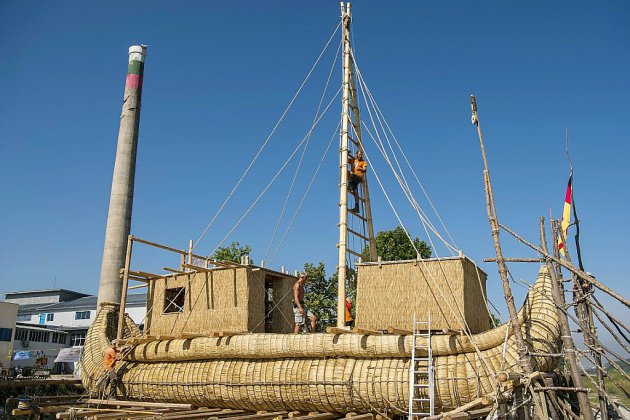 Une nef en roseaux pour traverser la Méditerranée sur les traces des Egyptiens