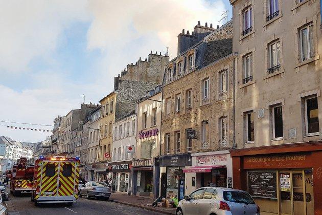 [Vidéo] Manche : un incendie dans le centre-ville de Cherbourg