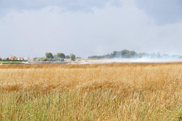 Feu d'engin agricole : six hectares détruits en Seine-Maritime