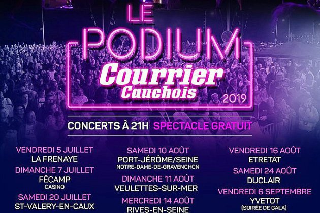 Le podium du Courrier Cauchois vous fait danser jusqu'en septembre