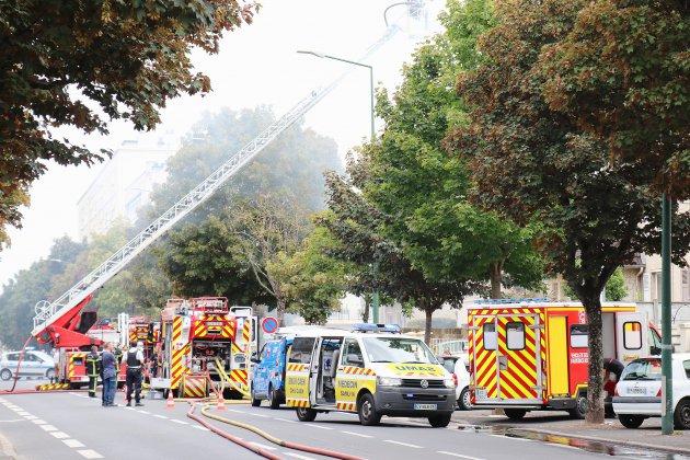 Incendie dans une maison boulevard Leroy à Caen