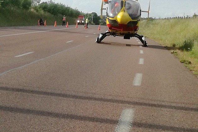 Accident de moto dans la Manche